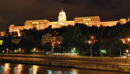 Night view of Royal Residence � Hungary Budapest photo