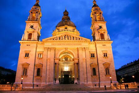 holidays vacancy: Night view of St Stephen Basilica - Hungary Budapest