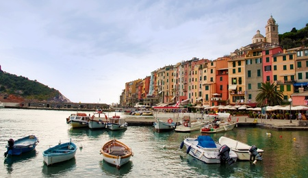 Italy - Liguria - Porto Venere port and houses