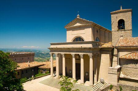 san marino: Basilica of  Repubblica di San Marino side view Editorial