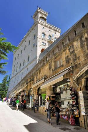 holidays vacancy: View of Shops and municipality at Repubblica di San Marino Editorial