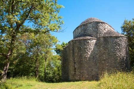 krk: St Krsevan church on nature at Krk - Croatia