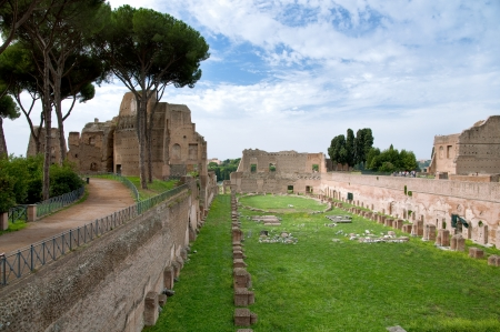 Antique roman way and buildings at Ostia Antica - Italy - Rome