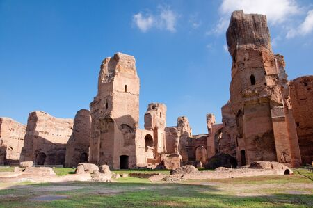 Terme di Caracalla ruins horizontal - Roma - Italy Stock Photo
