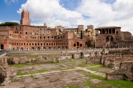 Foro di Trajano and torre delle Milizie at Roma - Italy