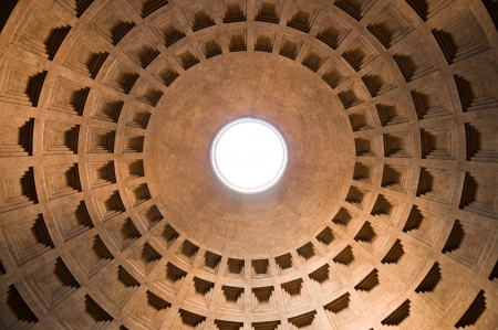 pantheon: Pantheon dome from inside at Roma - Italy
