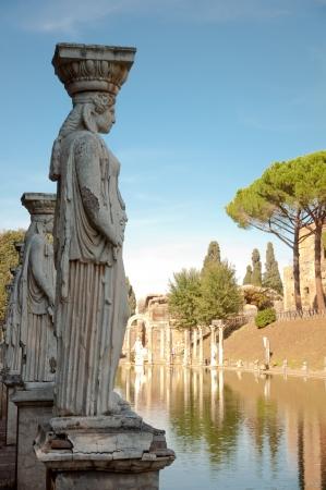 Lady worker statue in canopo at Villa Adriana - Roma - Italy Stock Photo