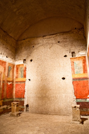 palatine: Inside Casa di Augusto in palatine hill at Rome - Italy