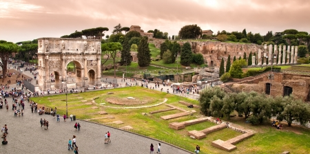 constantino: Arc of constantine view from Colosseum at Rome - Italy Editorial