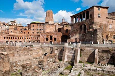 rodi: Fori imperiali and Casa dei cavalieri di Rodi at Rome - Italy