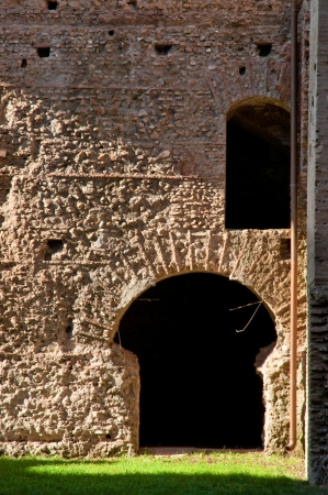 Italy - Roma - Caracalla - Ruins from old Roman wall and door at caracalla springs in Rome - Italy Stock Photo - 18782321