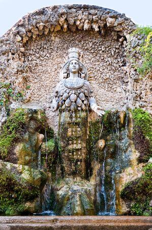 natura: Fontana della Natura in Villa D-este at Tivoli - Rome - Italy