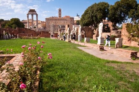 Atrium vestae at Roman forum - Rome - Italy photo