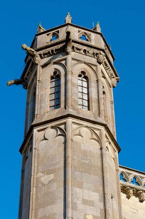 Tower datails from Basilique Saint Nazaire et Saint Celse at Carcassonne in France