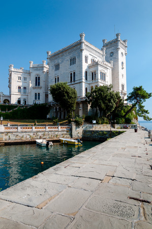 Pier at Miramare castle in Italy