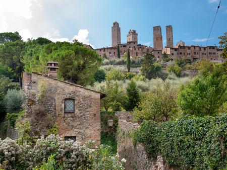 surroundings: Natural surroundings and town towers horizontal at San Gimignano - Italy