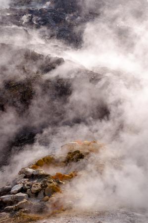 vulcano: Fumarole inside active vulcano Solfatara di Pozzuoli near Napoli - Italy
