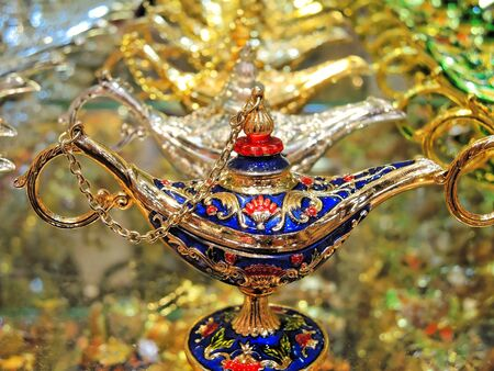 alladin: Lamp on Al Sabkha - Golden Bazaar, Dubai, UAE.