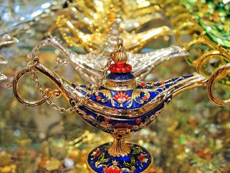 Lamp on Al Sabkha - Golden Bazaar, Dubai, UAE.