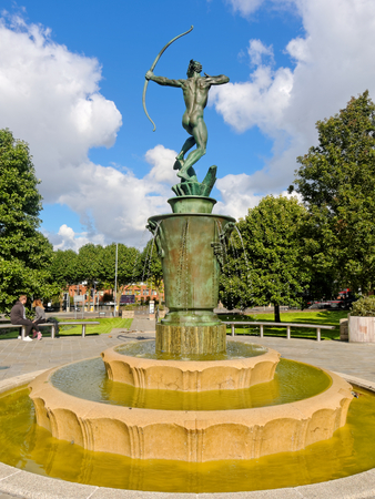 coronation: Apollo in Coronation Garden, Dudley, UK. Editorial