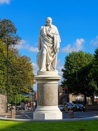 earl: DUDLEY, OCTOBER 02: William Ward statue, 1st Earl of Dudley, UK 2016. Editorial