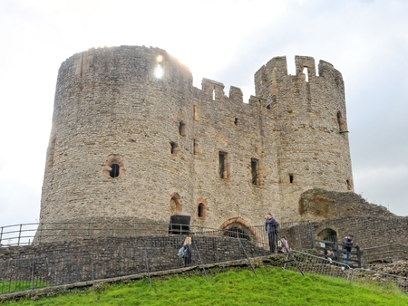 DUDLEY, OCTOBER 02: The oldest part of Dudley Castle tower, England 2016.