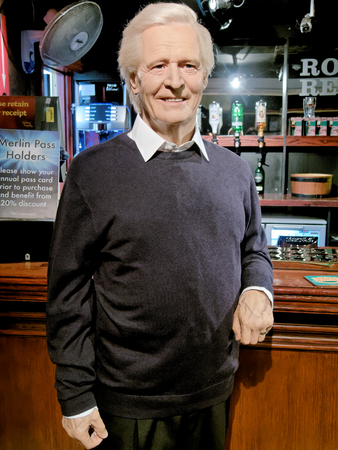 BLACKPOOL, JANUARY 14: Madame Tussauds Blackpool, UK 2018. William Patrick Roache is an English actor, played Ken Barlow in the soap opera Coronation Street since its first episode on 1960.