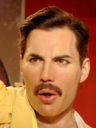 BLACKPOOL, JANUARY 14: Freddie Mercury's wax statue at Madame Tussauds, UK 2018.