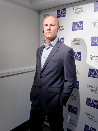 BLACKPOOL, JANUARY 14: Madame Tussauds Blackpool, UK 2018. Alan Shearer is an English retired footballer, played as a striker in the English league football for Southampton, Blackburn Rovers.