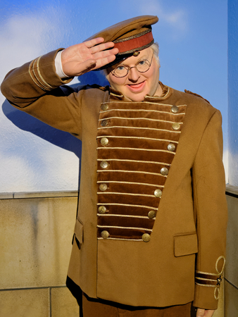 BLACKPOOL, JANUARY 14: Madame Tussauds, UK 2018. Alfred Hawthorne 'Benny' Hill was an English comedian and actor, best remembered for his television programme The Benny Hill Show.