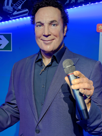 BLACKPOOL, JANUARY 14: Madame Tussauds, UK 2018. Sir Thomas John Woodward, known professionally as Tom Jones, is a Welsh singer, regular touring in Las Vegas and coaching on The Voice UK.