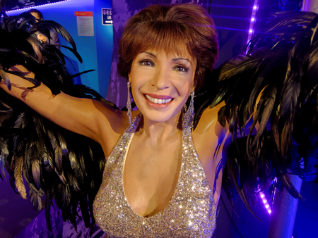 BLACKPOOL, JANUARY 14: Madame Tussauds, UK 2018. Dame Shirley Veronica Bassey is a Welsh singer, powerful voice, songs to the James Bond films.