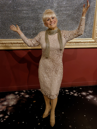 BLACKPOOL, JANUARY 14: Madame Tussauds, UK 2018. Wax figure of Dame Barbara Windsor is an English actress, known for her appearances in the Carry On films and for Peggy Mitchell in EastEnders