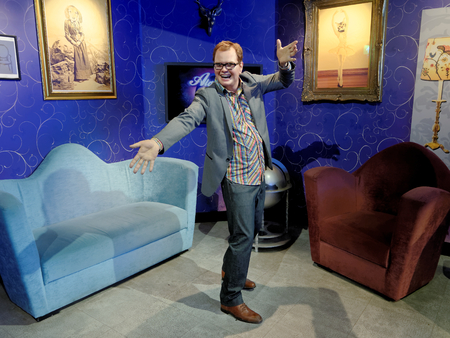 BLACKPOOL, JANUARY 14: Madame Tussauds, UK 2018. Alan Graham Carr is an English comedian and television personality, show features interviews with guests, sketches, topical chat and music Chatty Man. Banque d'images - 106648282