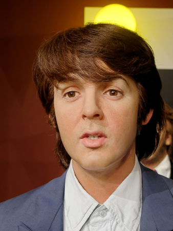 BLACKPOOL, JANUARY 14: Madame Tussauds, UK 2018. Wax figure of Paul McCartney, member The Beatles - English rock band formed in Liverpool.