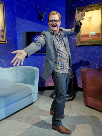 BLACKPOOL, JANUARY 14: Madame Tussauds, UK 2018. Alan Graham Carr is an English comedian and television personality, show features interviews with guests, sketches, topical chat and music Chatty Man. Banque d'images - 106648293