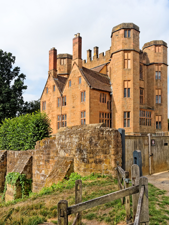 Leicesters Gatehouse, built by Robert Dudley on the north side of the base court, provided a grand new entrance to the Kenilworth Castle.