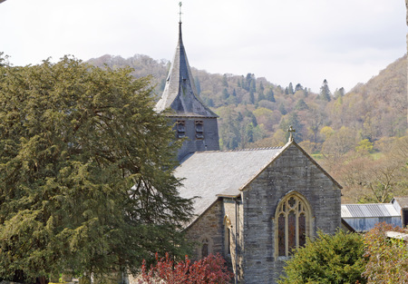 Saint Twrogs Church is in the village of Maentwrog in the Welsh county of Gwynedd, lying in the Vale of Ffestiniog, within the Snowdonia National Park