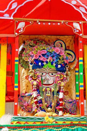 The cart festival called Rathayatra, deity on cart. June 16, UK 2019