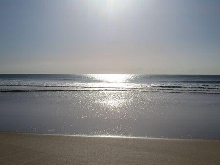 da: Beach at Costa da Caparica Stock Photo