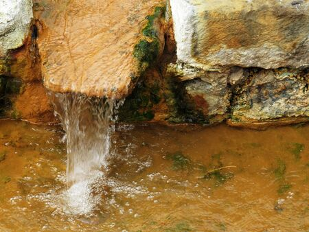 thermal spring: Water flowing from thermal spring