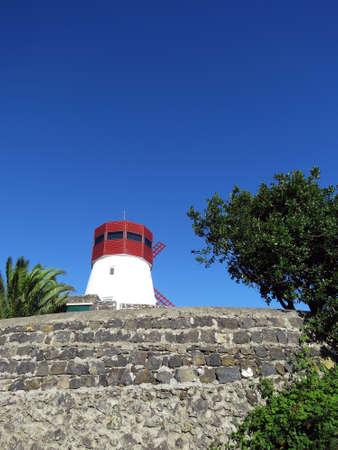 traditional windmill: Traditional windmill, Azores Stock Photo