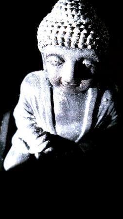 closeup: Zen statue
