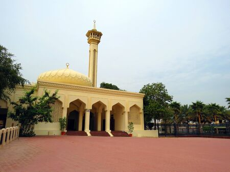 district: Mosque at Bastakiya district (Dubai) Editorial
