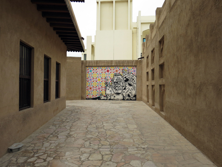 district: Bastakiya district street - Dubai