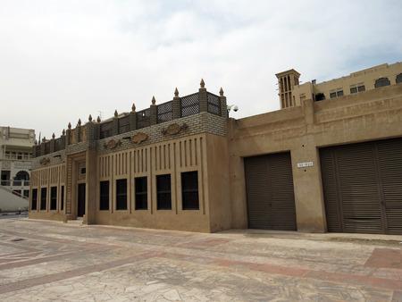 district: Bastakiya district streets - Dubai