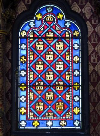 monarchy: French Monarchy Symbols Fleur de Lile Stained Glass Saint