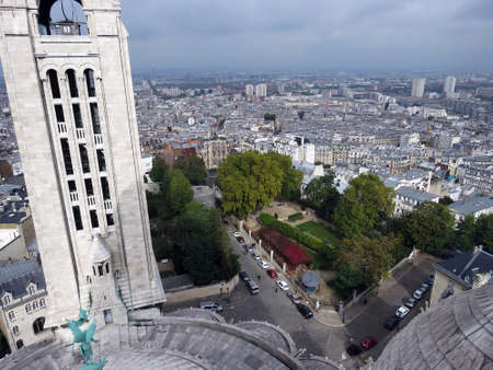 sacre: View from Basilica Sacre Coeur in Montmartre in Paris, France