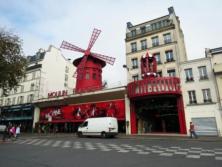 moulin: Cabaret Moulin Rouge in Paris, France