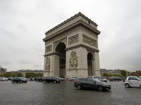 arc: Arc de Triumph - Paris, France Editorial